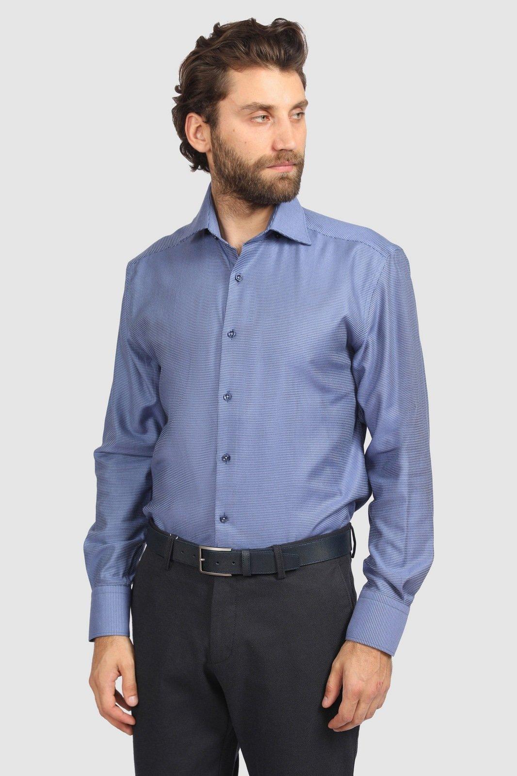 Рубашка мужская Kanzler 19W-SBL07RLSN/03-4 синяя 39/62