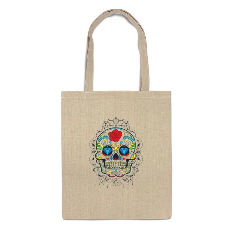 Сумка-шоппер Printio Цветочный череп 671711