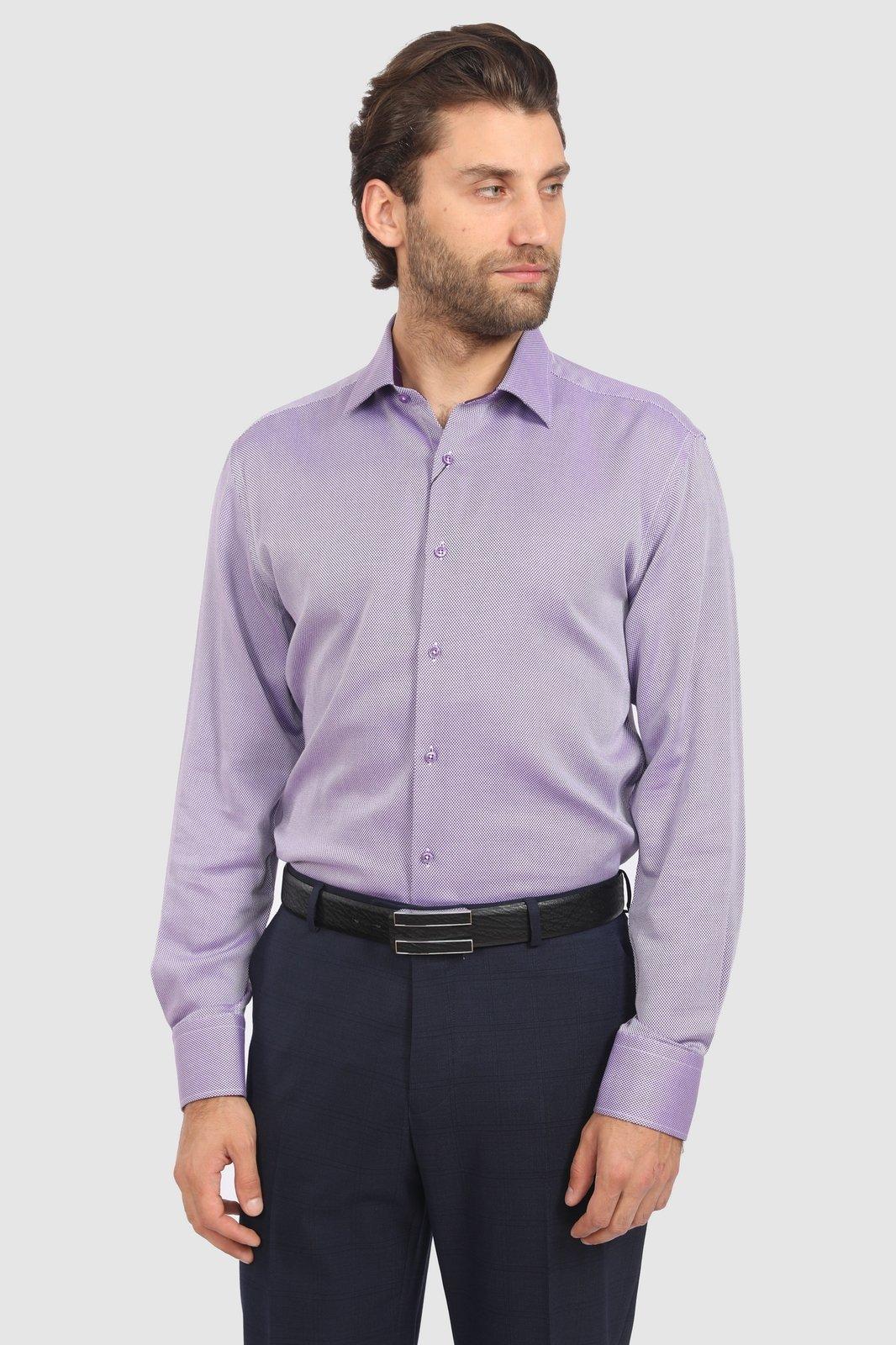 Рубашка мужская Kanzler 19W-SBL13S2LSN/05-4 фиолетовая 39
