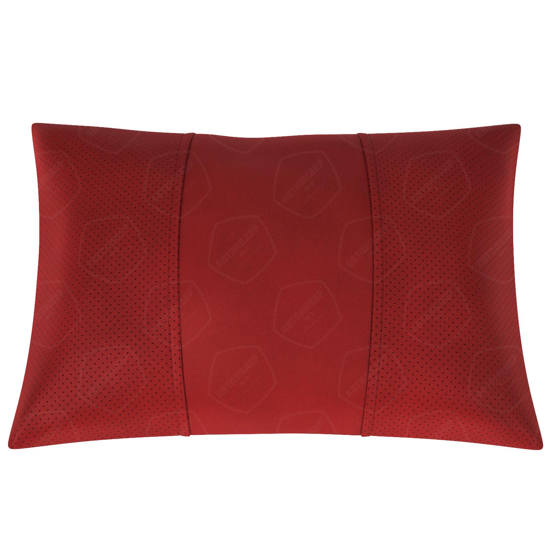 Подушка автомобильная AVTOLIDER1 Экокожа красный красный