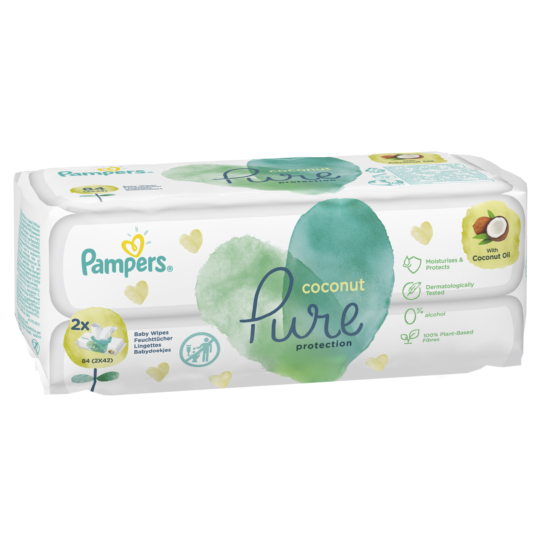 Детские влажные салфетки Pampers Pure Coconut 84 шт.