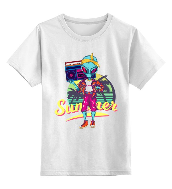 Детская футболка Printio Инопланетянин лето цв.белый р.116 0000003414140 по цене 790