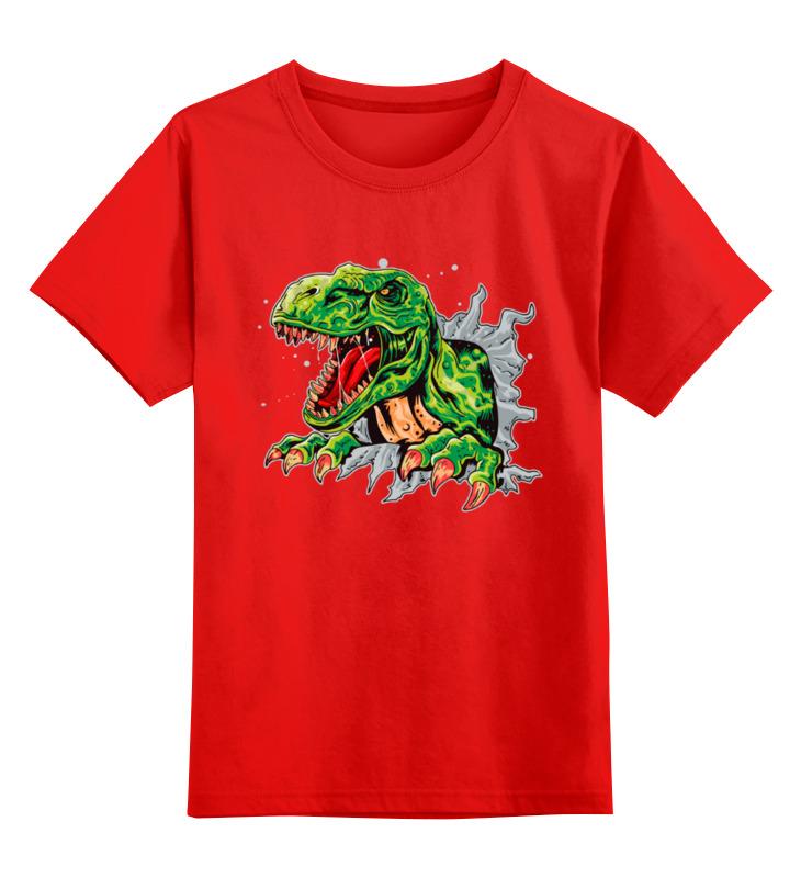 Купить 0000003363375, Детская футболка Printio Раптор цв.красный р.104,