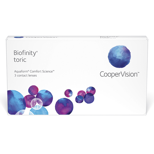 Купить Biofinity Toric 3 линзы, Линзы контактные CooperVision Biofinity Toric 3 шт. -8/2, 25/180