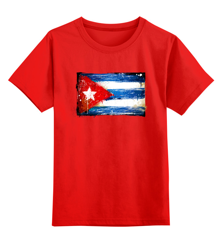 Купить 0000003399813, Детская футболка Printio Cuba цв.красный р.104,