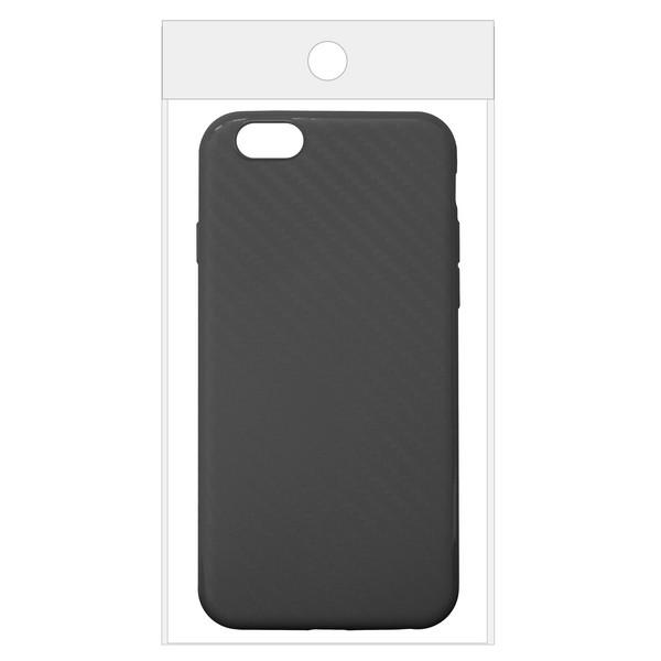 Чехол Krutoff Silicone carbon для iPhone 6/6S Black