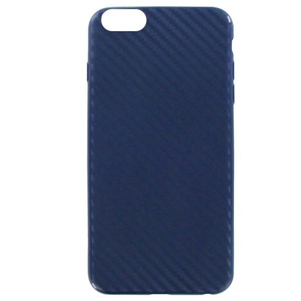 Чехол Krutoff Silicone carbon для iPhone 6/6S Blue