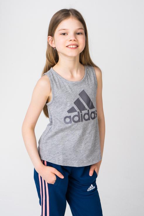 Купить BP8601, Майка Adidas для девочек, цв. серый, р-р 128,