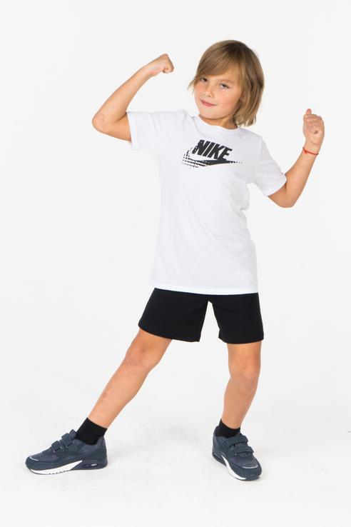 Купить 838794-100, Футболка Nike для мальчиков, цв. белый, р-р 128, Футболки для мальчиков