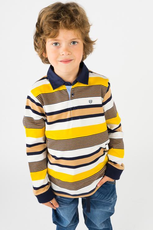 Купить 4100, Рубашка-поло Mayoral для мальчиков, цв. мультиколор, р-р 128,