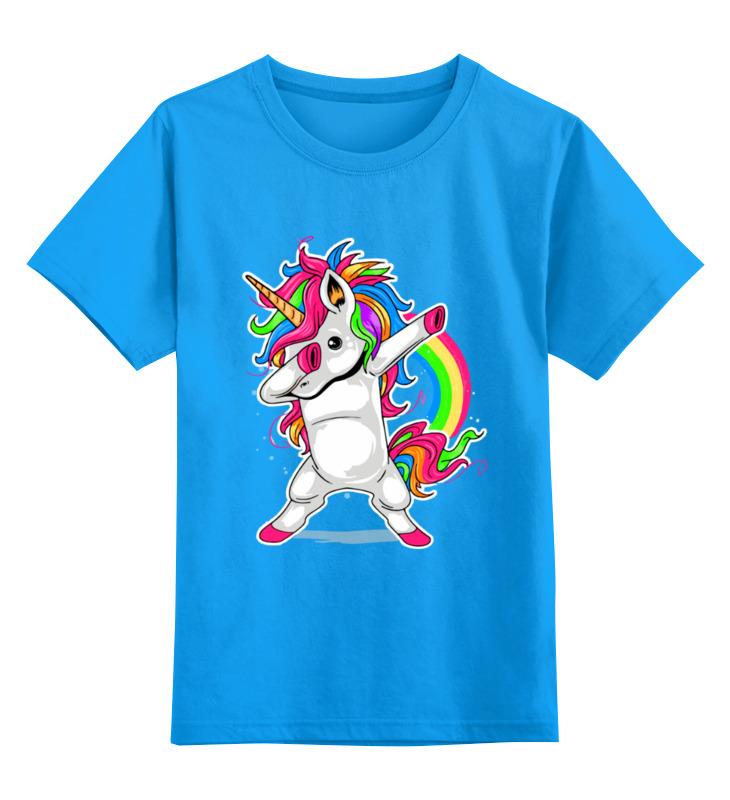 Детская футболка Printio Единорог цв.голубой р.164 0000003353839 по цене 990