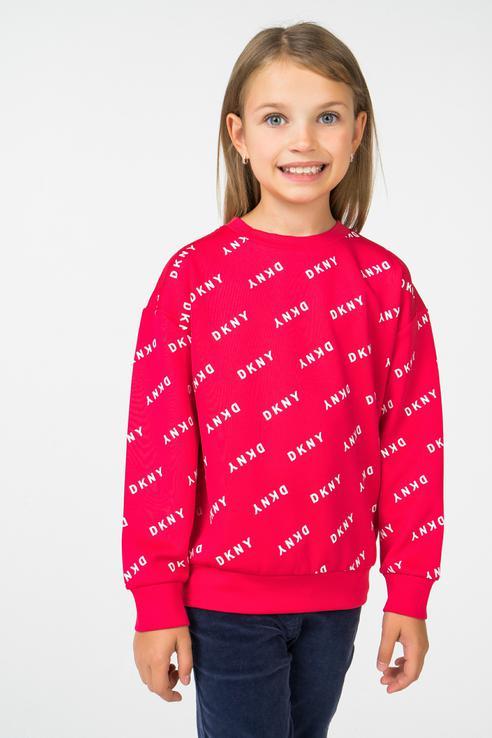 Купить D35N74/47G FW18/19, Свитшот DKNY для девочек, цв. розовый, р-р 156,
