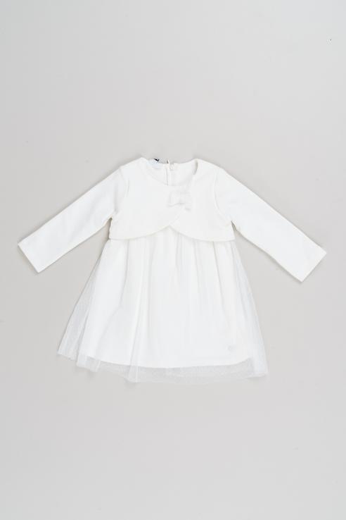 Платье iDO для девочек, цв. бежевый, р-р 68