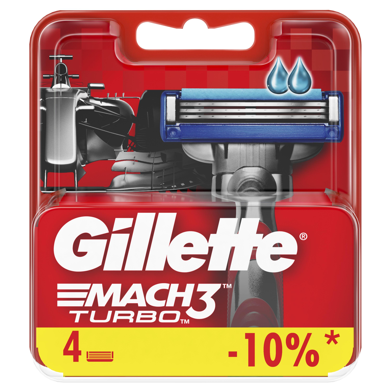 Купить Сменные кассеты Gillette Mach3 Turbo 4 шт