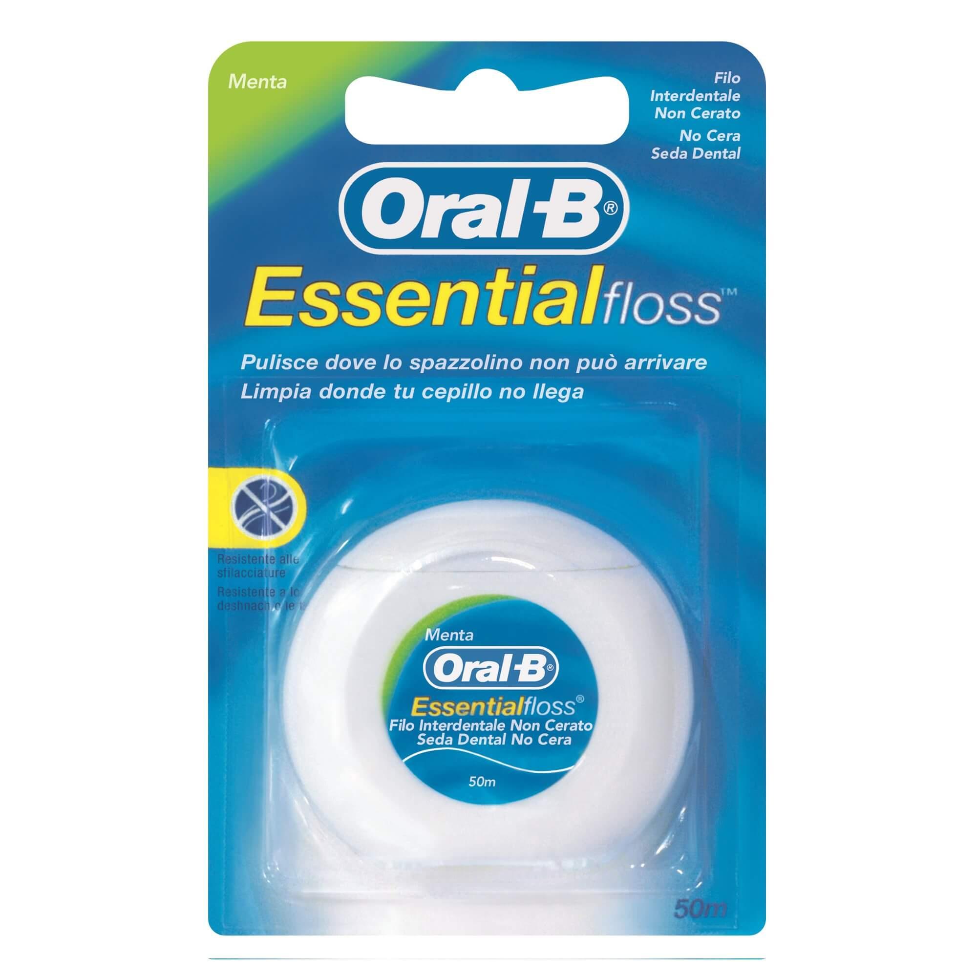 Зубная нить Oral B Essential floss невощеная