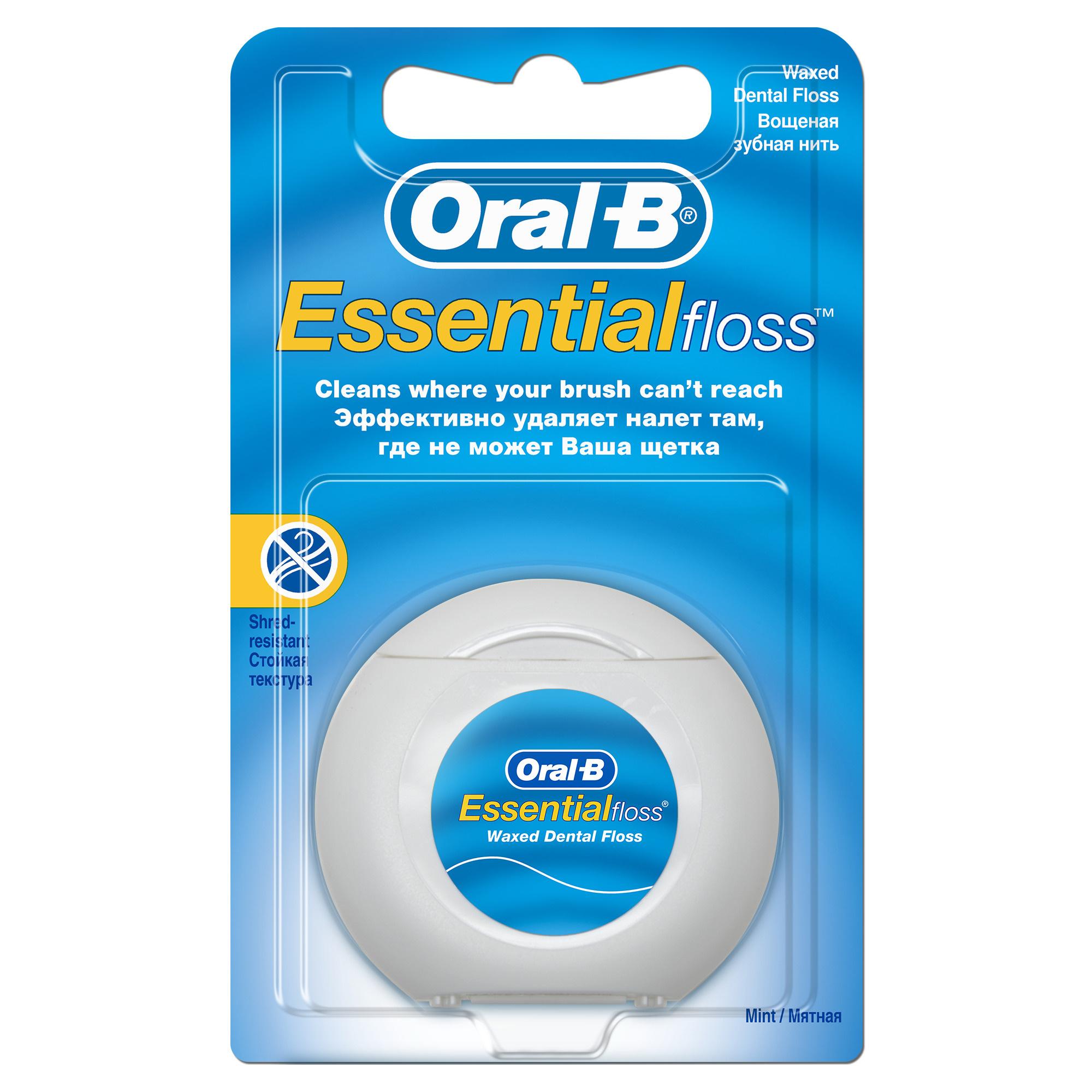Зубная нить Oral B Essential floss мятная