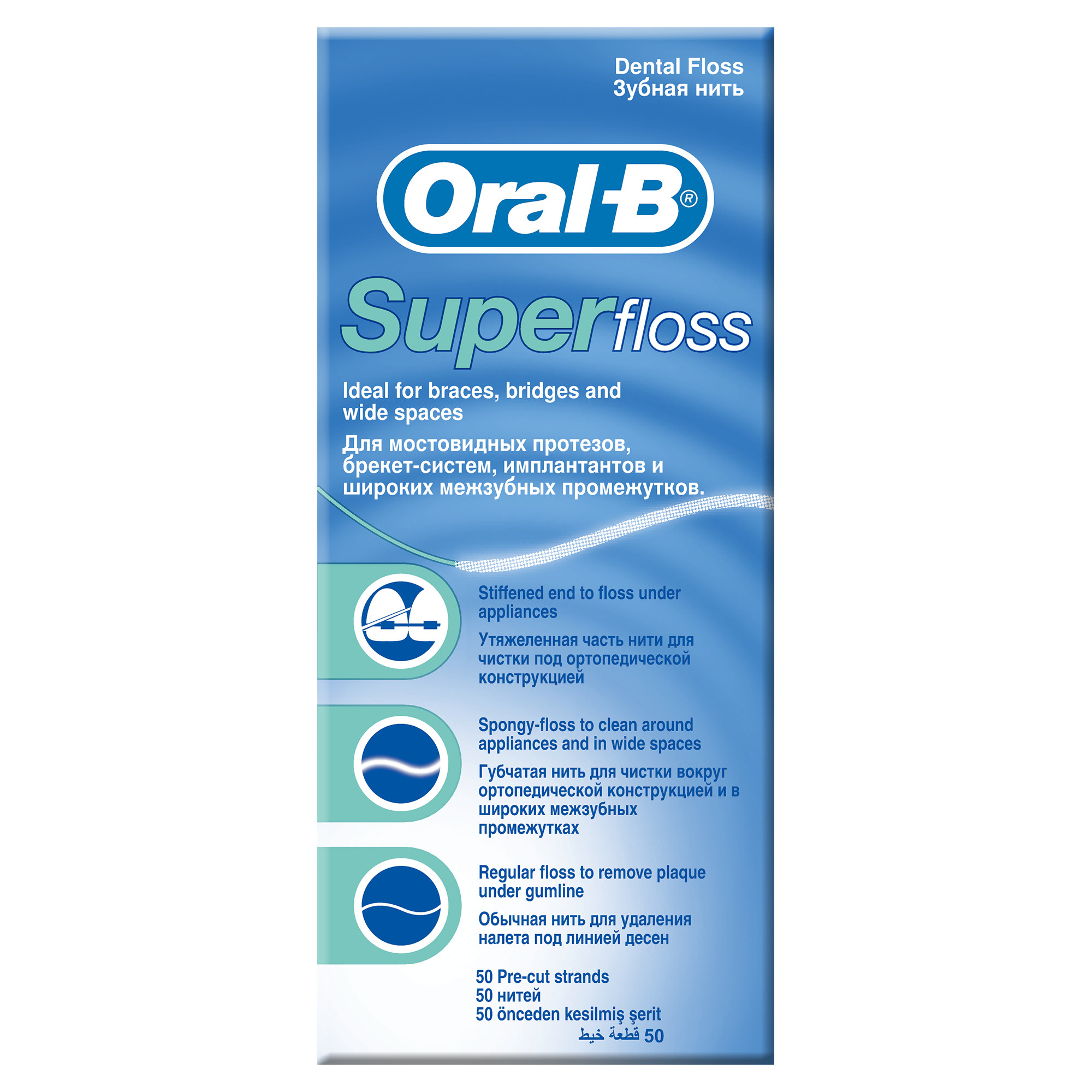 Зубная нить Oral B SuperFloss
