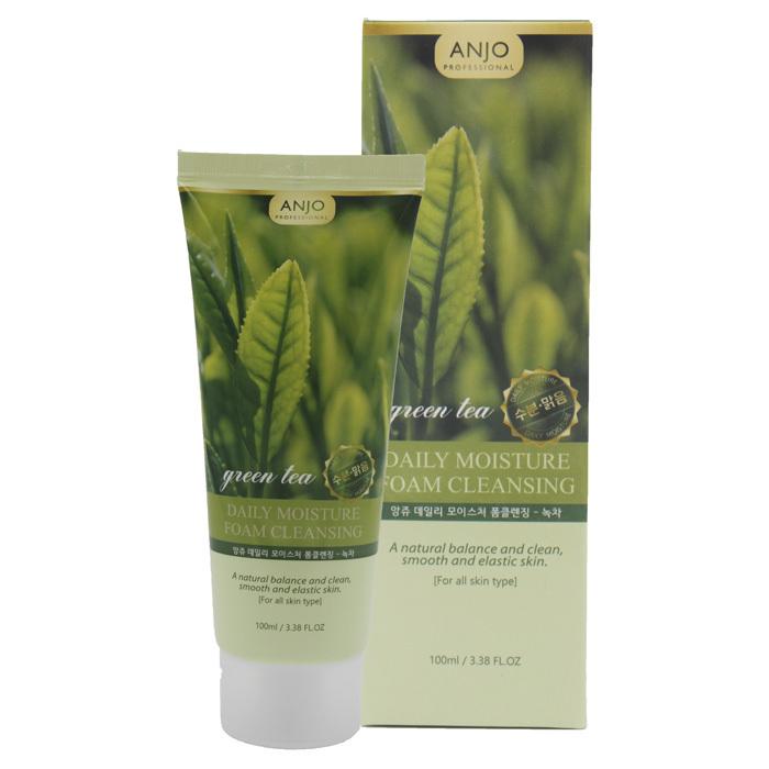 Купить Увлажняющая пенка для умывания с экстрактом зеленого чая ANJО Professional 100 мл, ANJO Professional