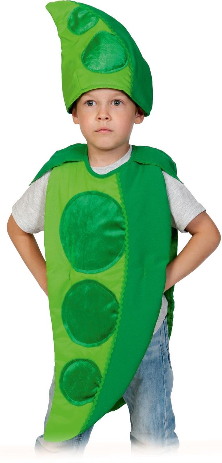 Карнавальный костюм Карнавалофф Горох, цв. зеленый р.122