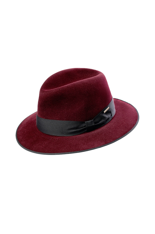 Шляпа мужская Pierre Cardin BARON PC-1005-1024 бордовая XL