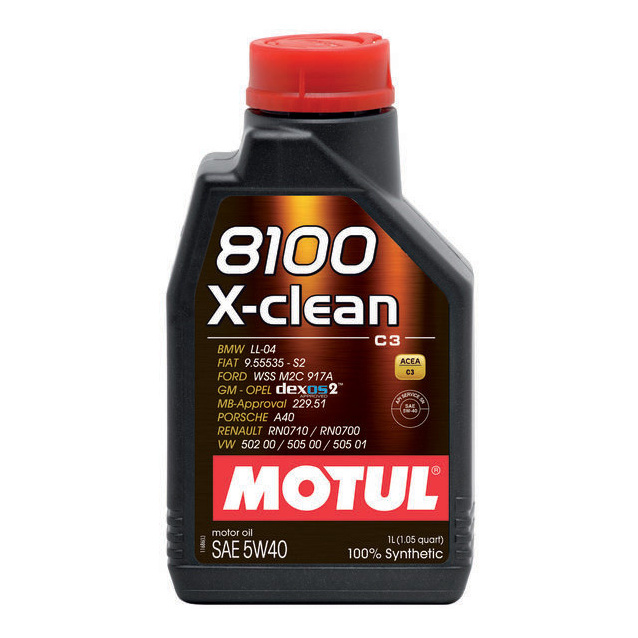 Моторное масло Motul 8100 X-clean 5w-40 1л 102786