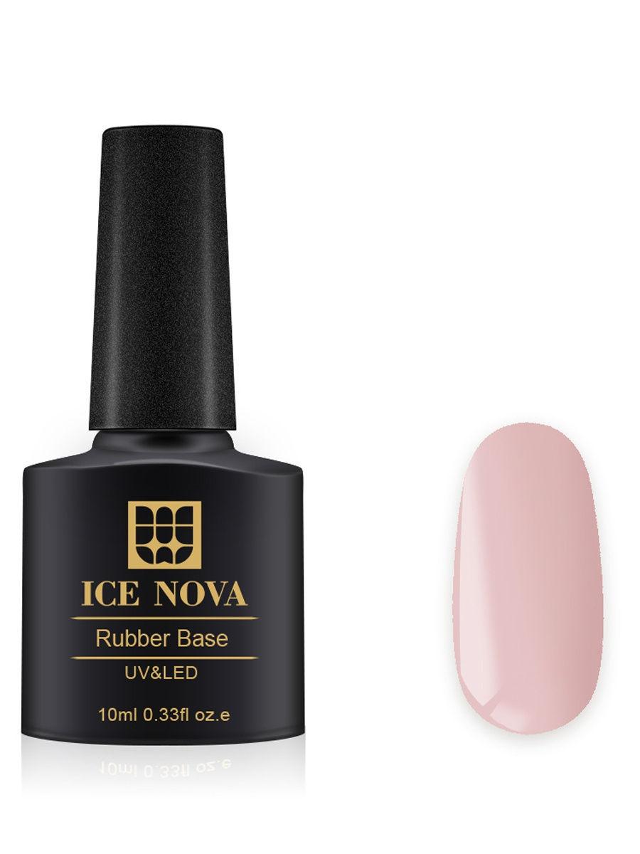 Купить Каучуковая основа для French-маникюра ICE NOVA 10 мл, цвет 21, Основа для гель-лака 21