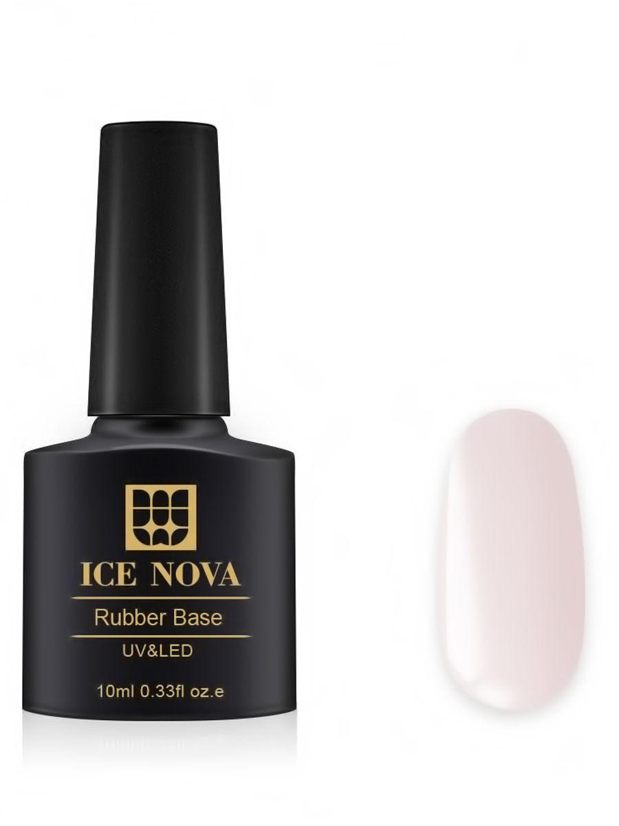 Купить Каучуковая основа для French-маникюра ICE NOVA 10 мл, цвет 22, Основа для гель-лака 22