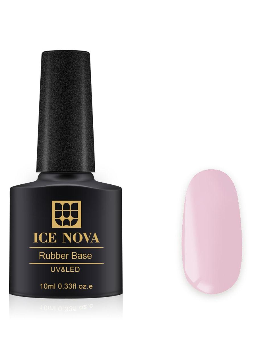 Купить Каучуковая основа для French-маникюра ICE NOVA 10 мл, цвет 24, Основа для гель-лака 24