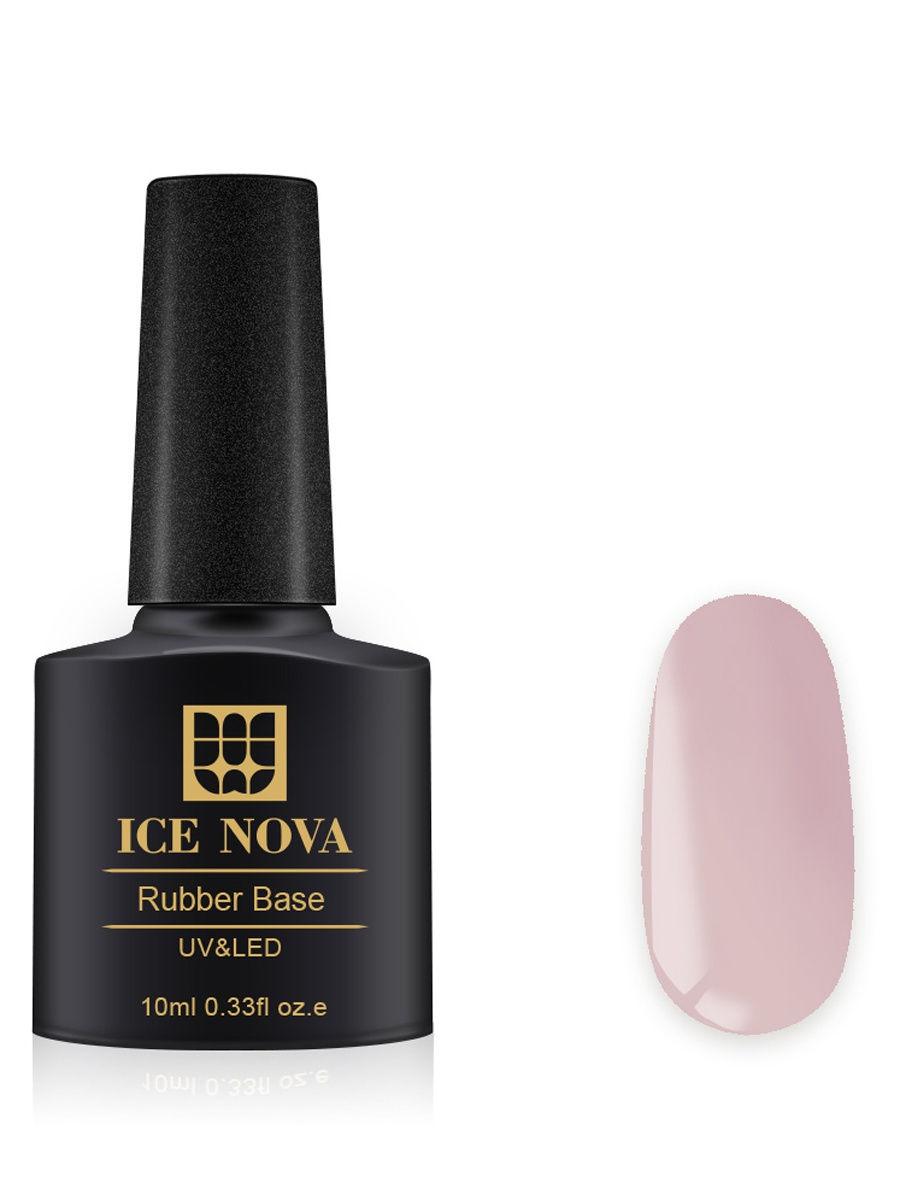 Купить Каучуковая основа для French-маникюра ICE NOVA 10 мл, цвет 25, Основа для гель-лака 25