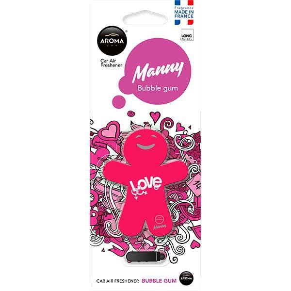 Ароматизатор на дефлектор полимерный (bubble gum) 8г Manny AROMA CAR