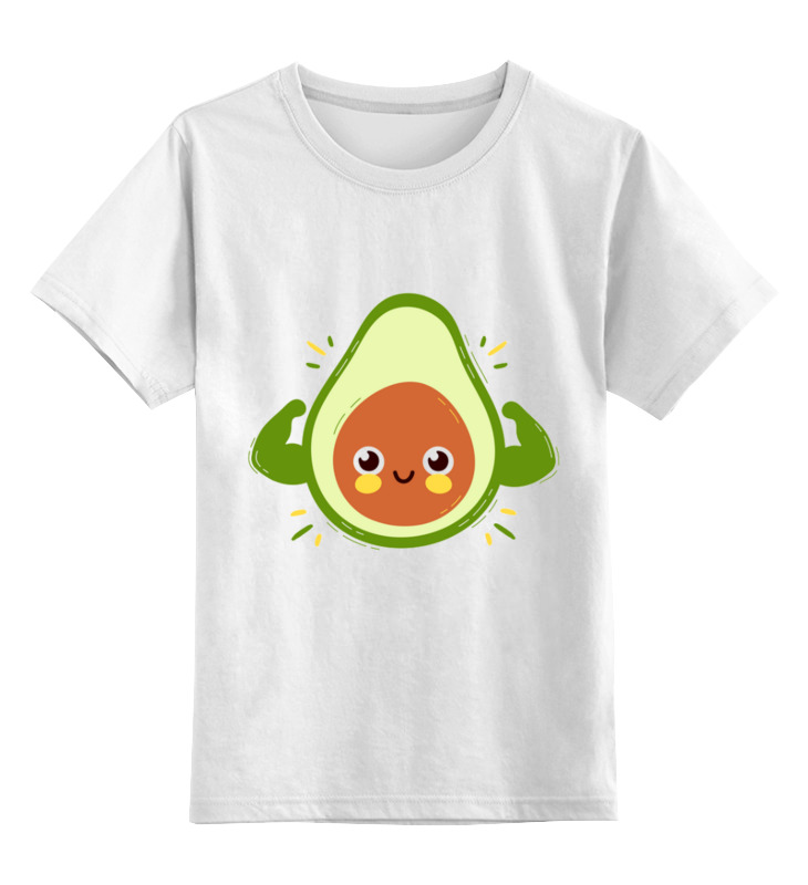 Детская футболка Printio Авокадо цв.белый р.152 0000003318215 по цене 790
