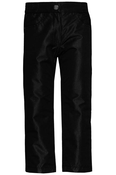 Купить 219BBGC64010800, Брюки утепленные Button Blue для девочек, цв. черный, р-р 134, Полукомбинезоны и брюки для девочек