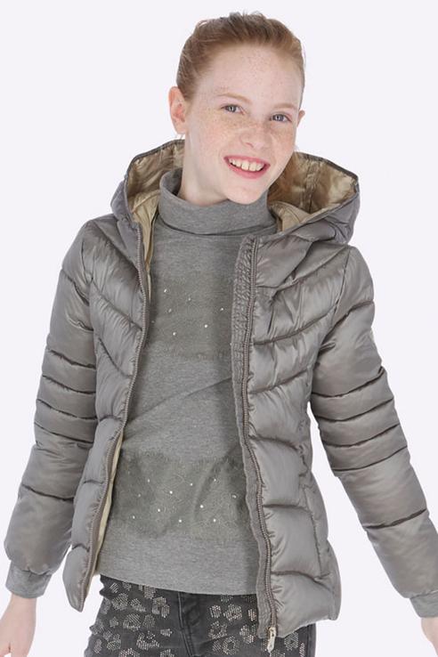 Купить 7418, Куртка Mayoral для девочек, цв. серый, р-р 128, Куртки для девочек