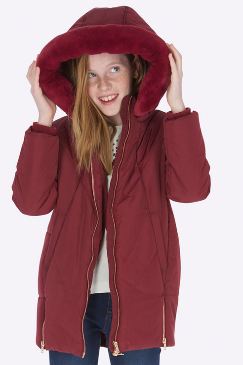 Купить 7420, Куртка Mayoral для девочек, цв. бордовый, р-р 128, Куртки для девочек