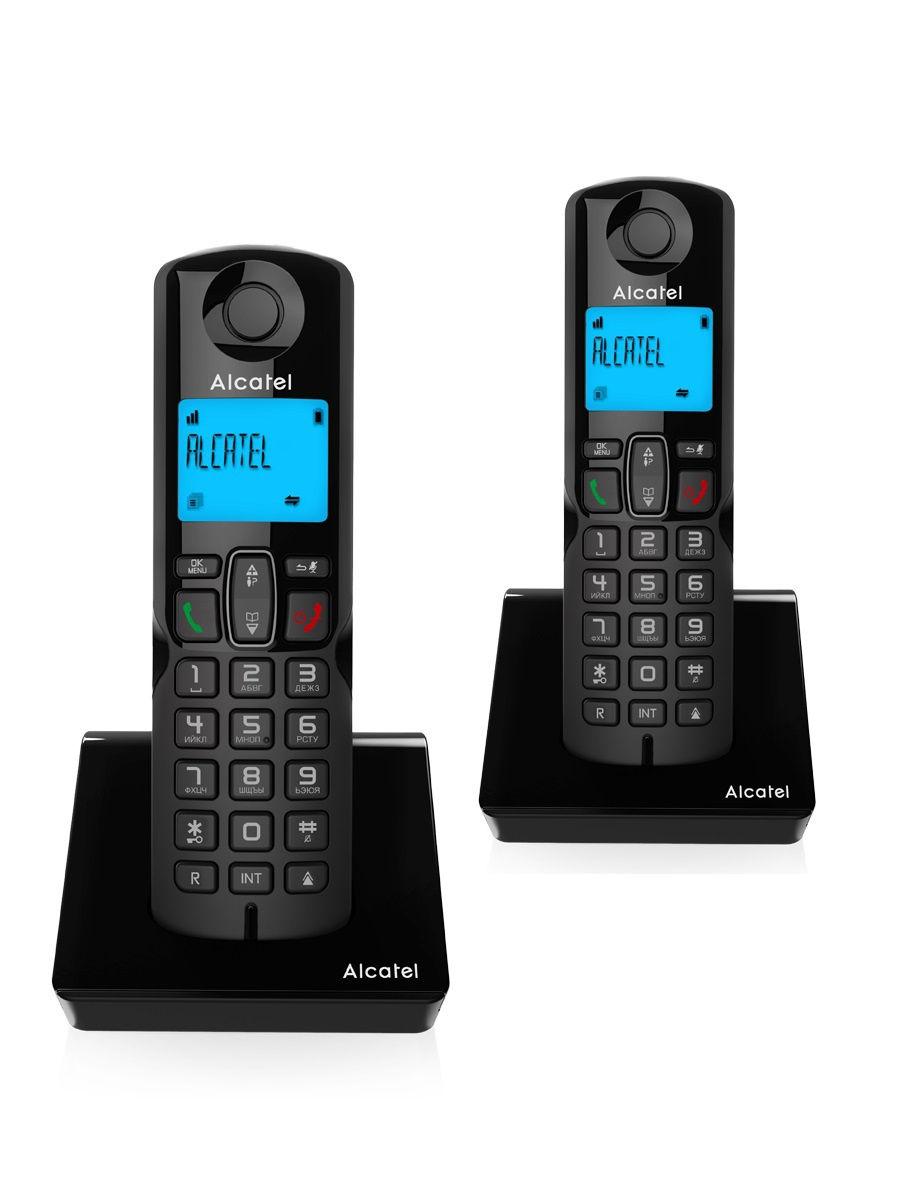 Радиотелефон  Alcatel S230 DUO RU BLACK