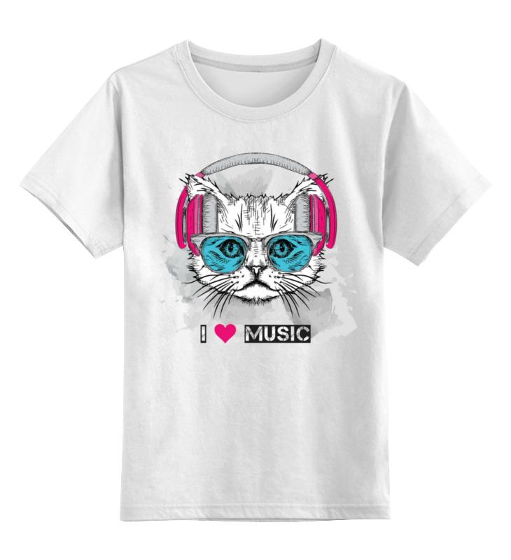 Детская футболка Printio котэ цв.белый р.140