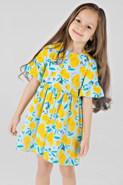 Платье Bossa Nova для девочек, цв. голубой, р-р 110