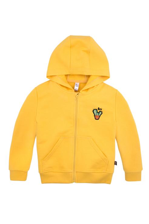 Купить 219Б-461-Ж, Толстовка Bossa Nova для девочек, цв. желтый, р-р 104, Толстовки для девочек