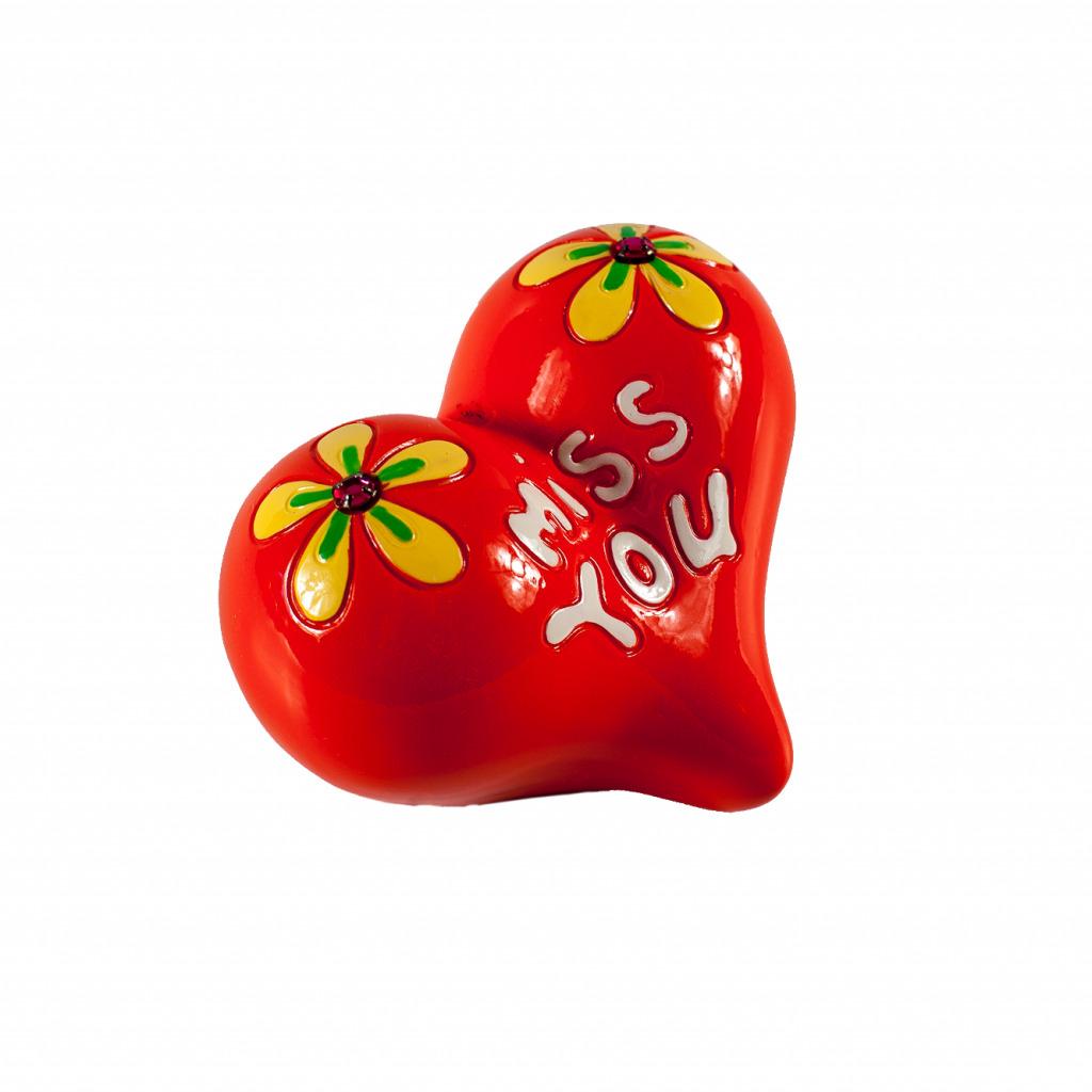 Копилка для денег ElffDecor Сердце цвет оранжевый,