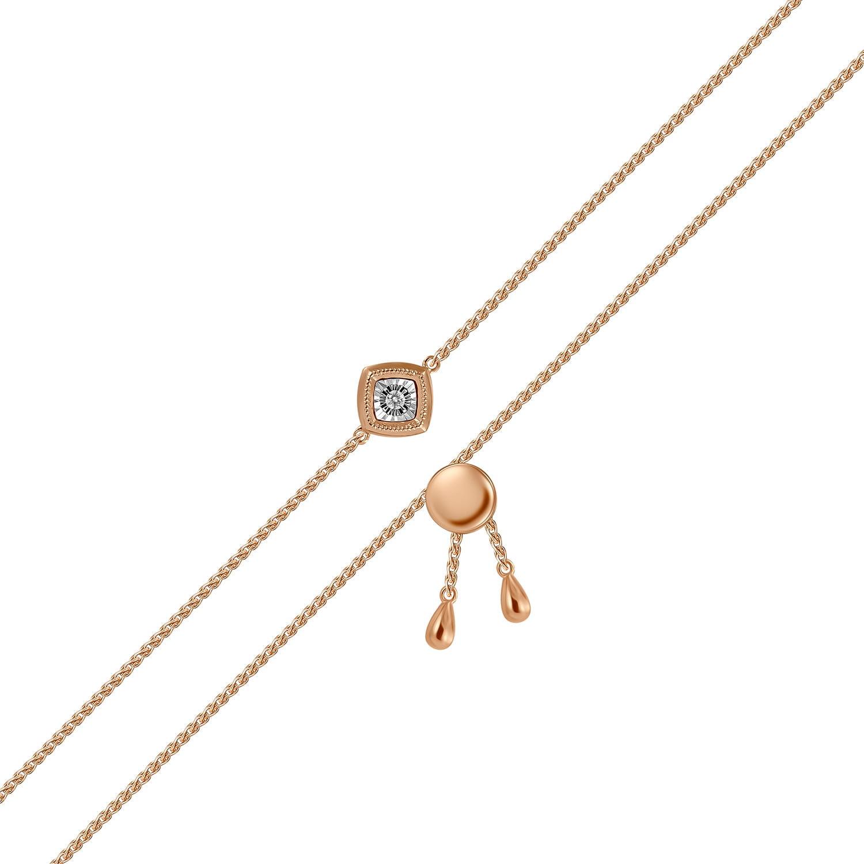Браслет женский MIUZ Diamonds (Московский ювелирный завод) B2018-BR470029ADI