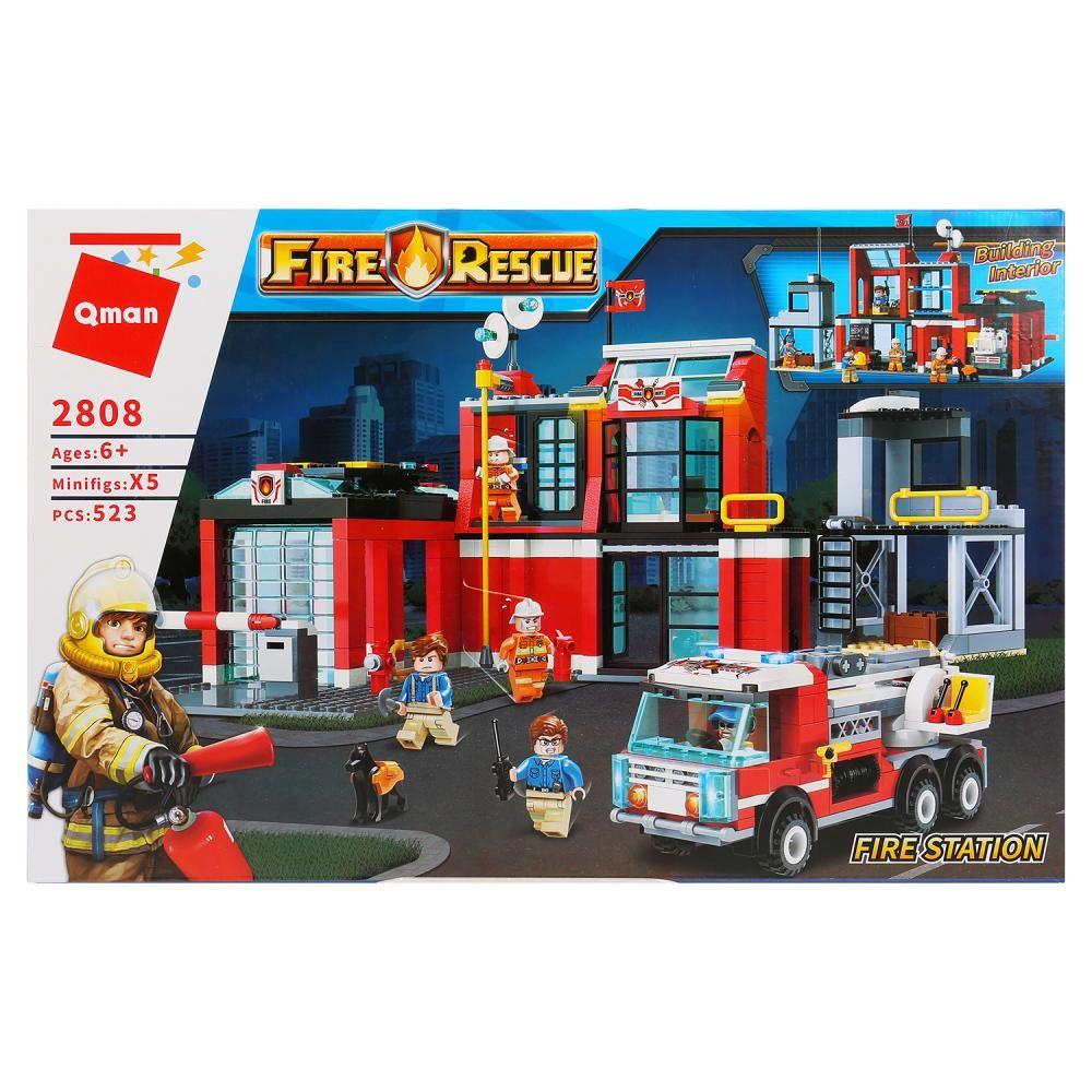 Купить Конструктор Пожарная станция 523 детали, Китай, Конструкторы пластмассовые