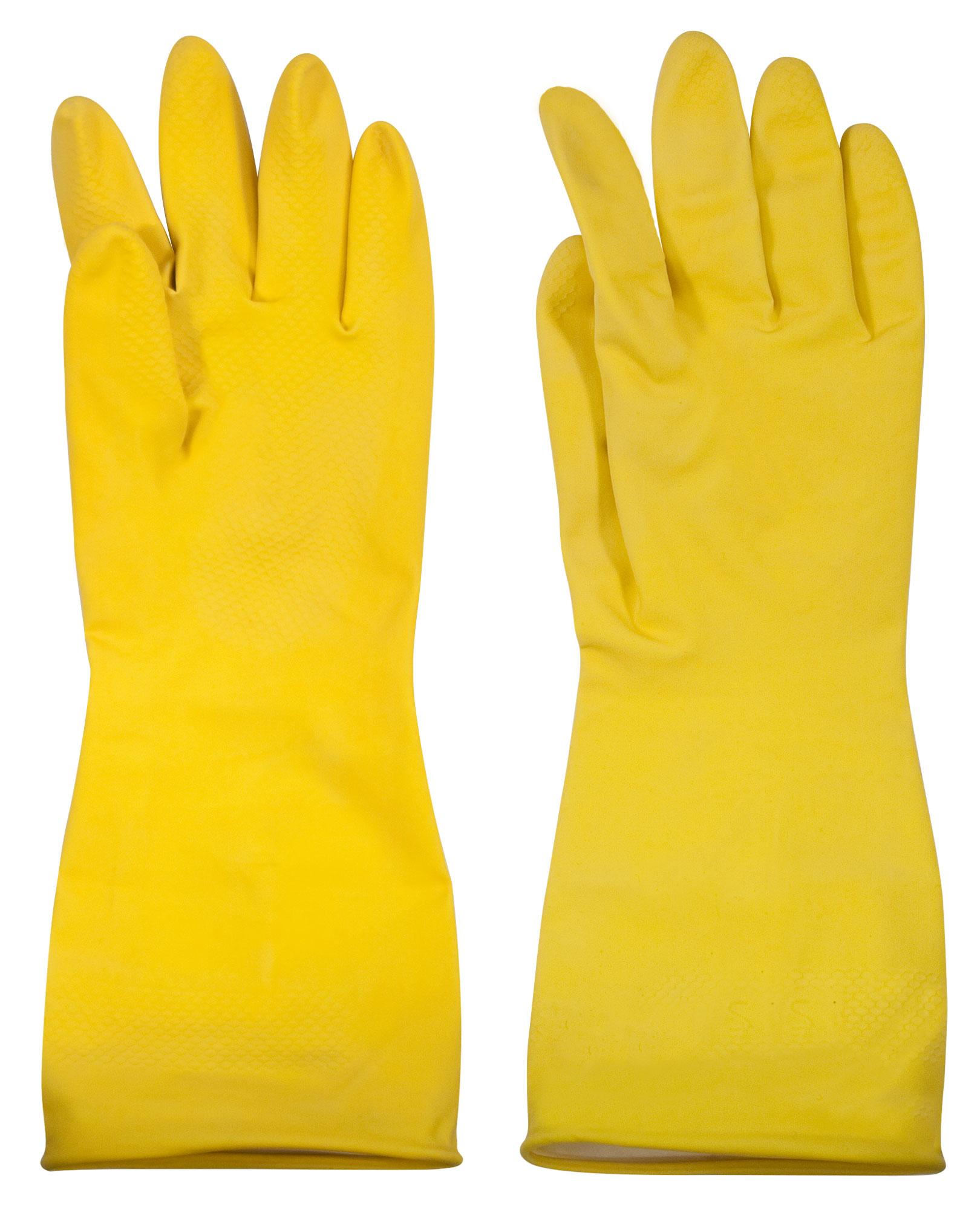 Перчатки латексные с напылением, размер S.