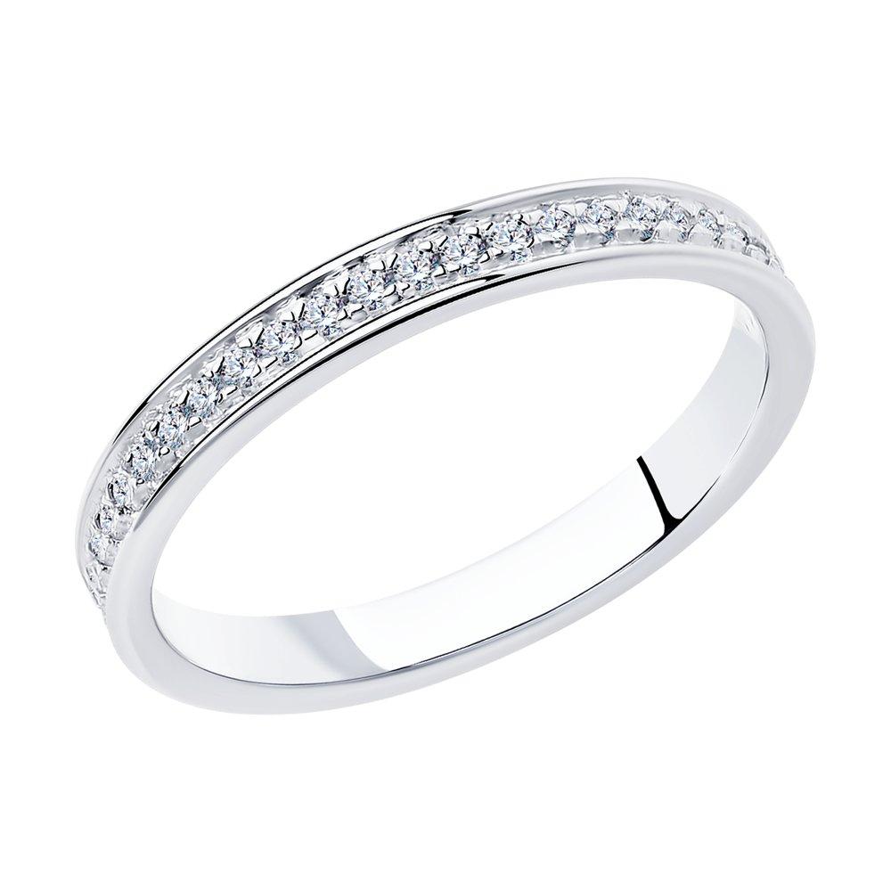 Кольцо женское SOKOLOV из серебра с фианитами 94012515 р.18.5