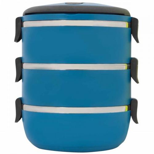 Термо ланч-бокс, 3 секции, 2100 мл, синий