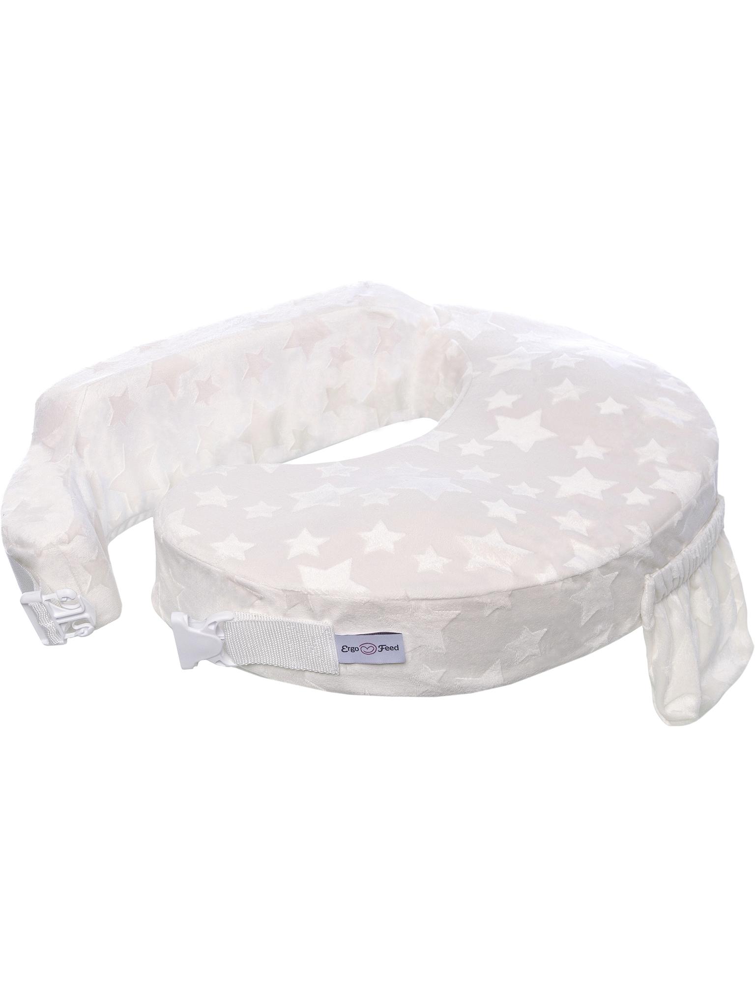 Подушка для кормления эргономичная ErgoFeed Звезды, молочный