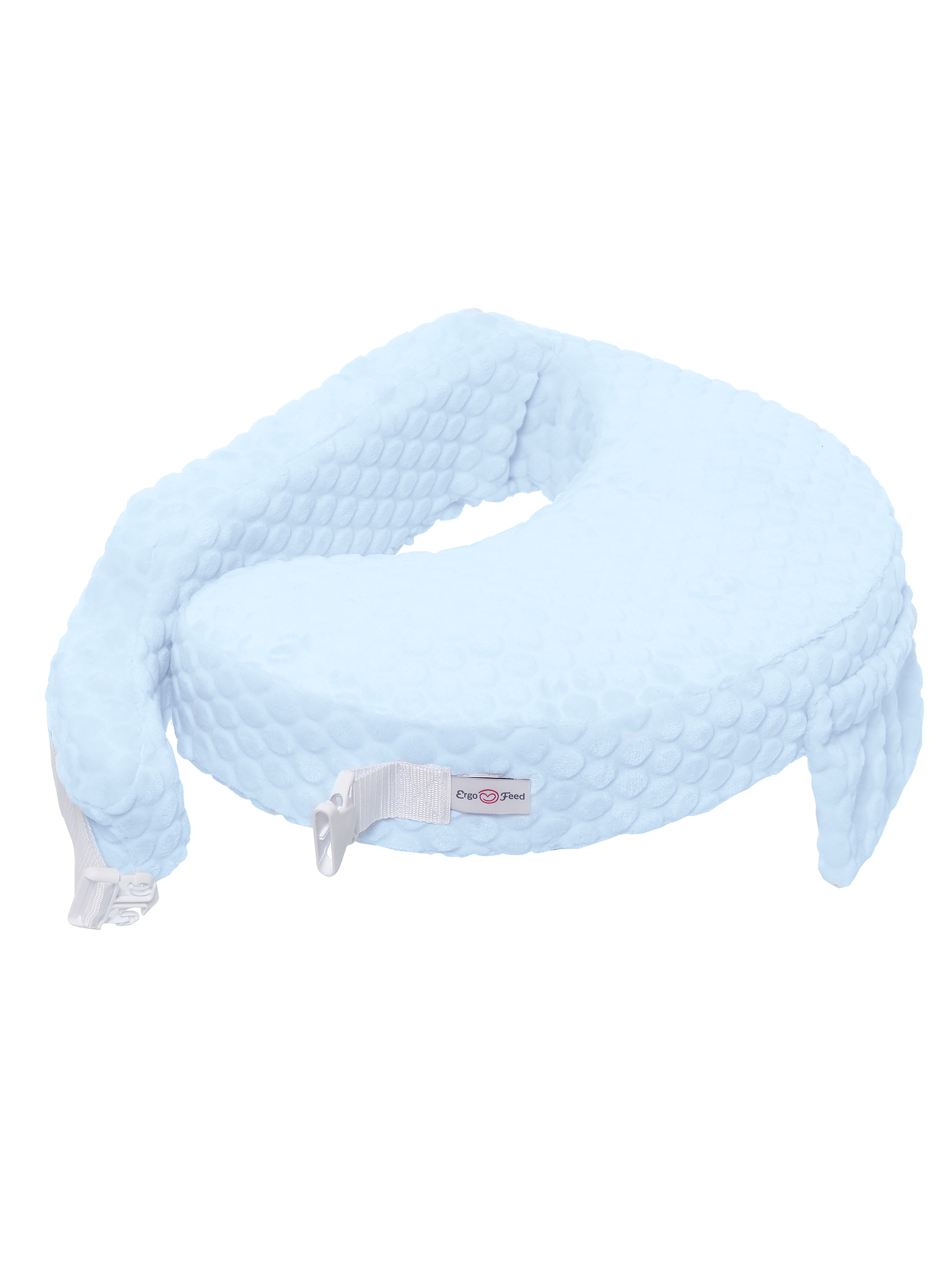 Подушка для кормления эргономичная ErgoFeed Шарики, голубой