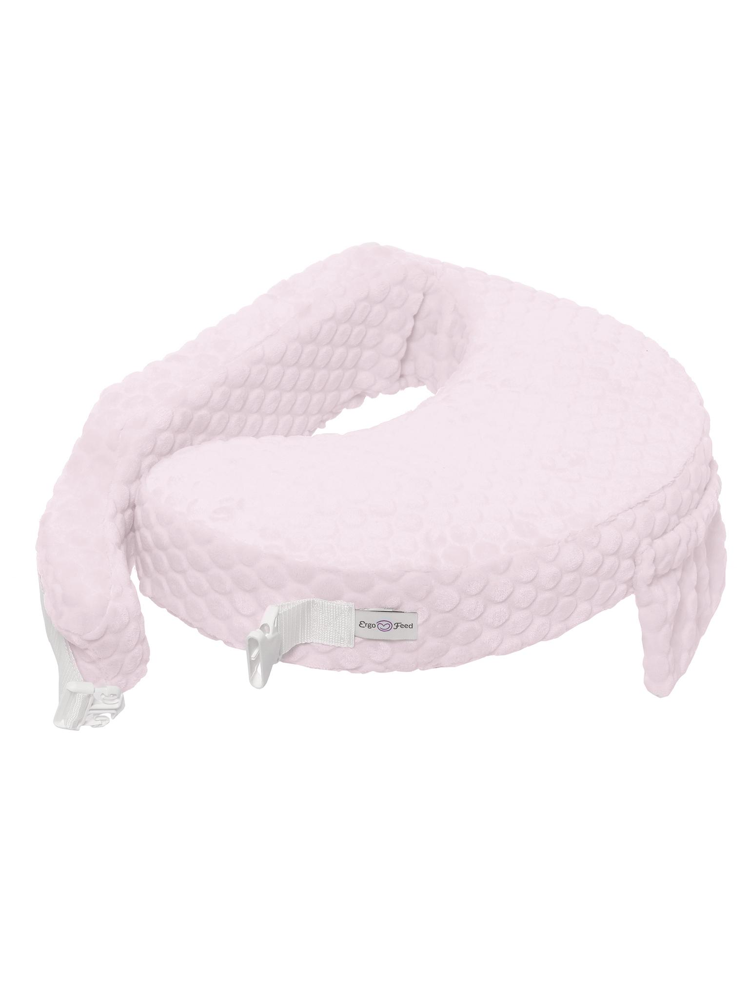 Подушка для кормления эргономичная ErgoFeed Шарики, розовый