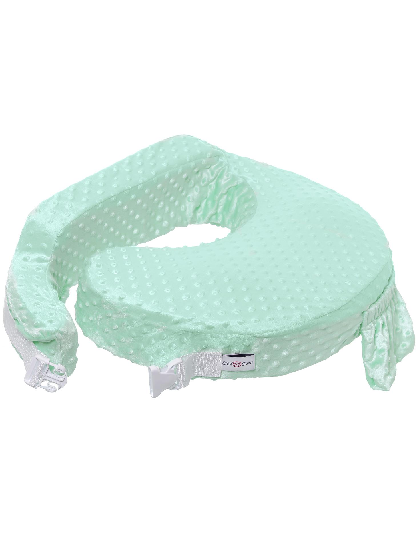Подушка для кормления эргономичная ErgoFeed Пузырьки, зеленый