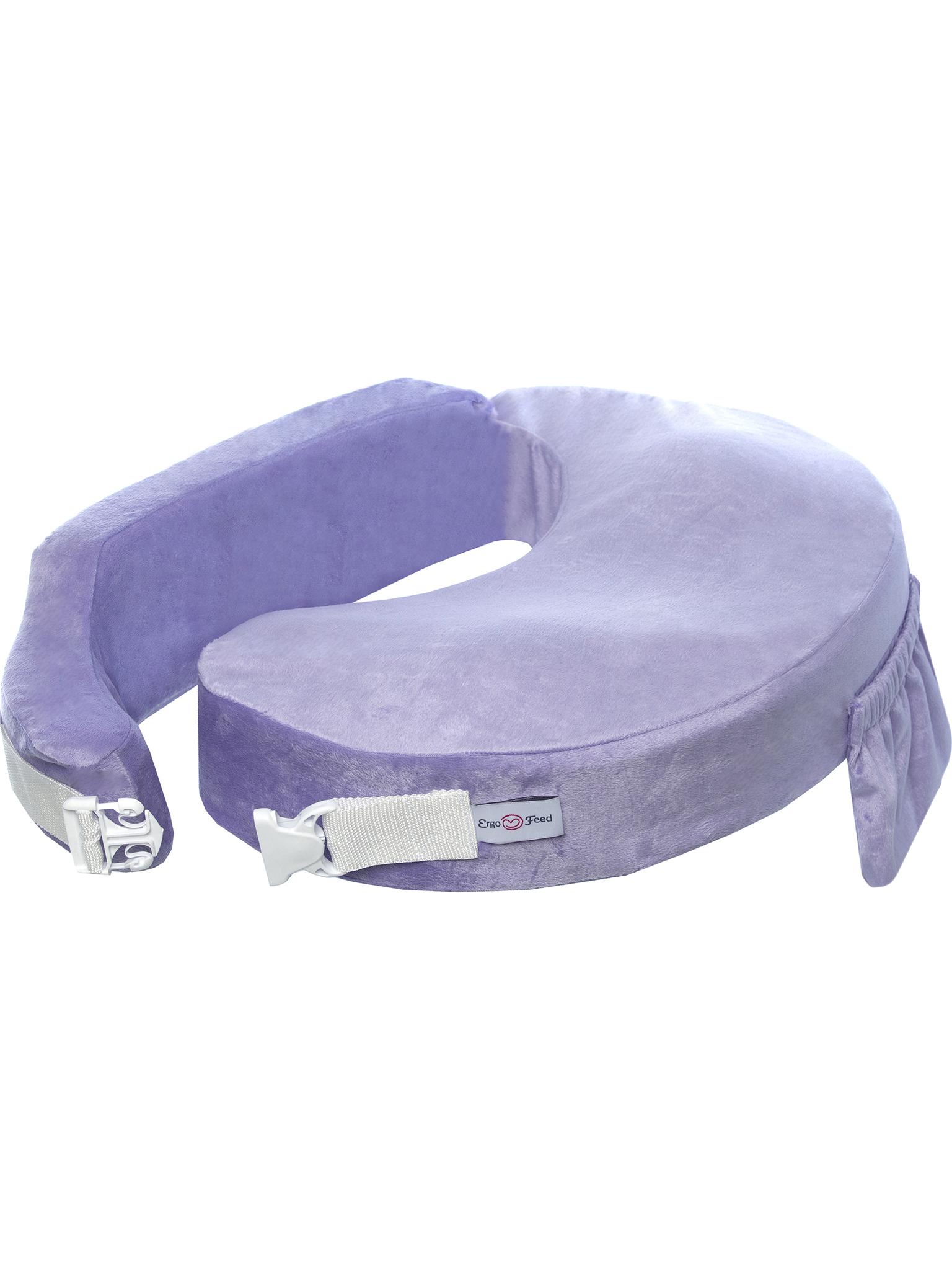 Подушка для кормления эргономичная ErgoFeed Гладь, фиолетовый