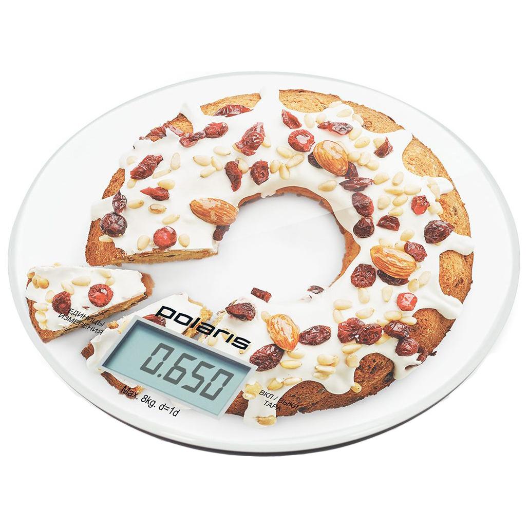 Весы кухонные Polaris PKS 0855DG White